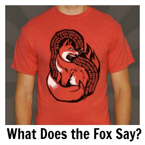 what does the fox say t shirt