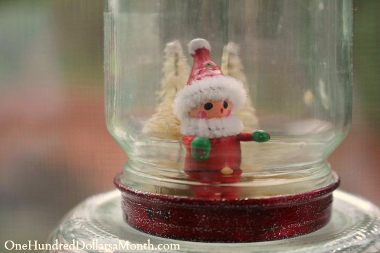 Easy Christmas Crafts for Kids  Waterless Snow Globes