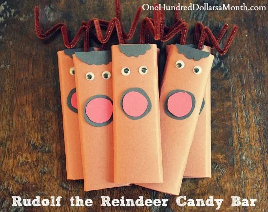 Easy Kids Christmas Candy Craft Ideas – Rudolf the Reindeer Candy Bar