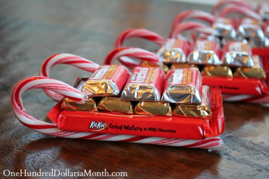 Easy Kids Christmas Candy Crafts – Candy Cane Sleigh - One Hundred ...