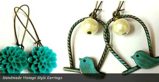 handmade vintage style earings