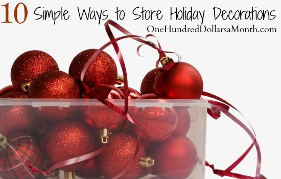 10 Simple Ways to Store Holiday Decorations