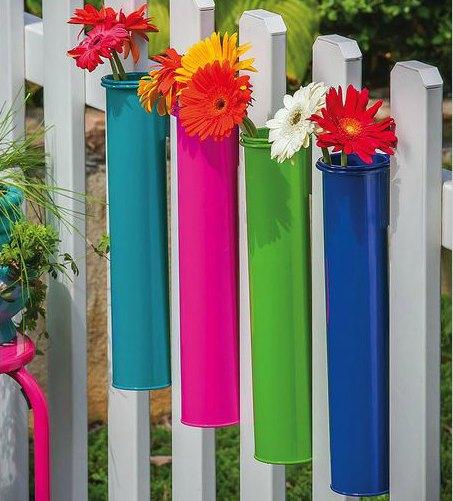 hanging rail flower planter