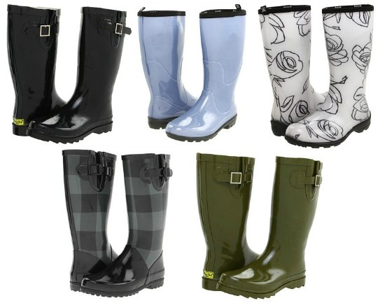 trendy rainboots