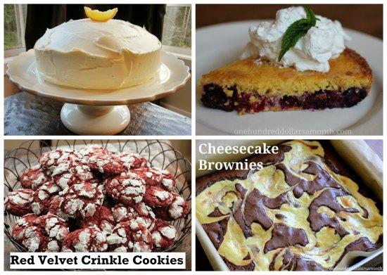 weekly menu dessert recipes