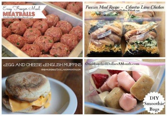weekly  menu plan ideas freezer meals