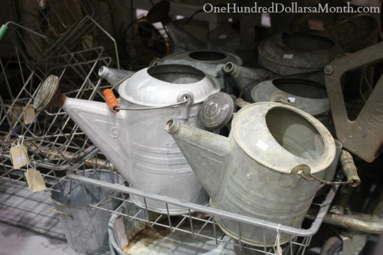 old watering cans vintage