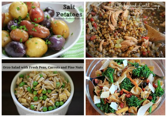 Weekly Meal Plan side dishes