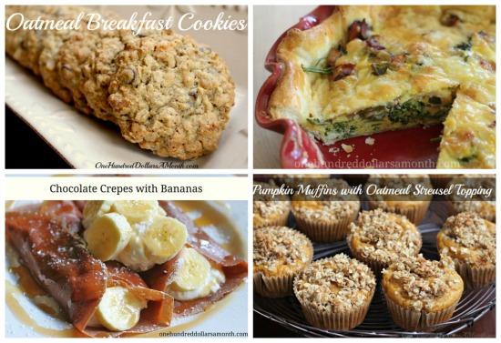weekly menu desserts