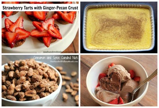 weekly menu plan ideas dessert