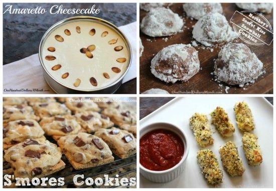 weekly menu plan ideas desserts