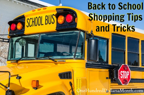 Back to School Shopping Tips and Tricks