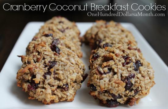 Cranberry Coconut Breakfast Cookies