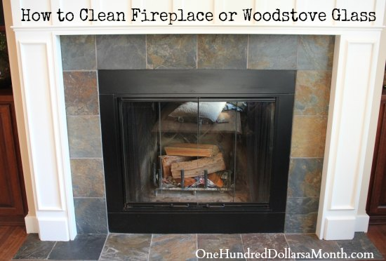 How To Clean Fireplace Or Woodstove Glass One Hundred Dollars A
