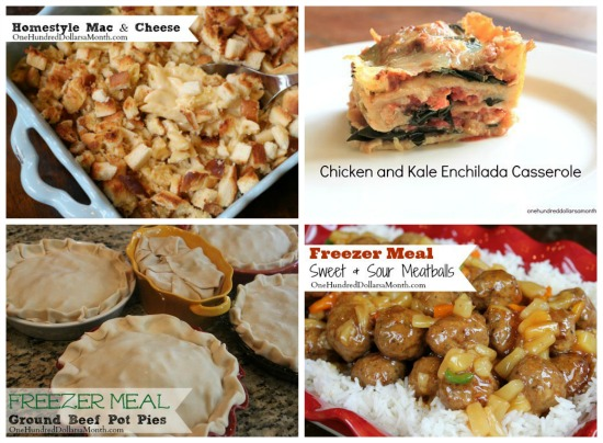 Weekly Meal Plan - Menu Plan Ideas main dish
