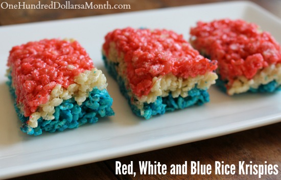 Red, White and Blue Rice Krispies