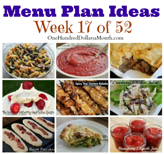 Weekly Meal Plan - Menu Plan Ideas Week