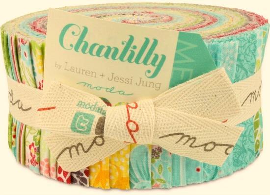moda jelly roll chantilly