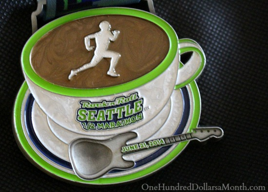 seattle rock n roll half marathon medal 2014