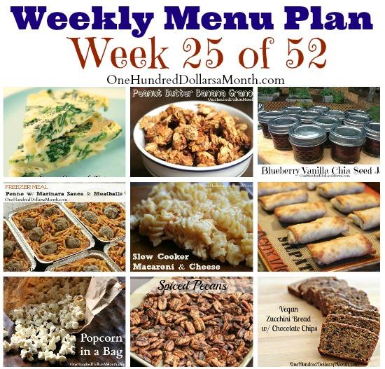 weekly menu plan ideas