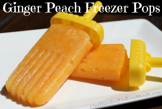 Ginger Peach Freezer Pops