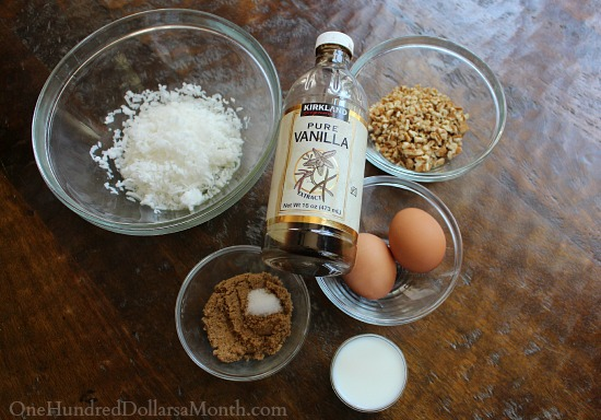topping ingredients for German Chocolate Brownie Bars