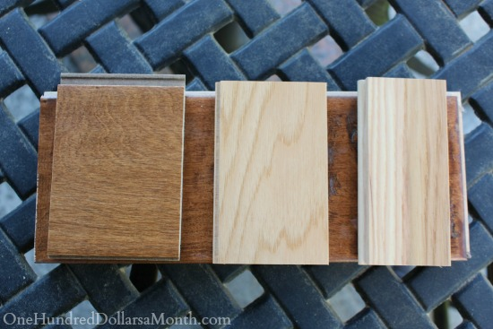 wood flooring samples