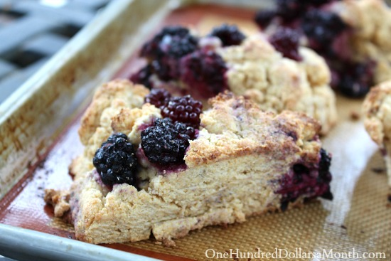 Blackberry Ricotta Scones