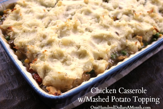 Chicken-Casserole-with-Mashed-Potato-Topping