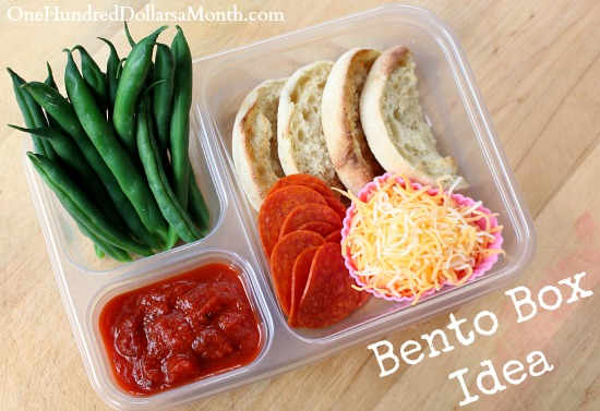 bento box idea mini pizzas