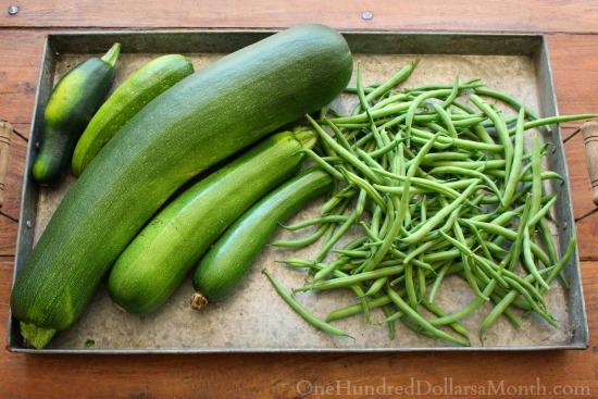 zucchini and beans
