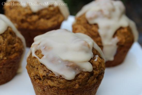 Maple Glazed Pumpkin Muffin recipe