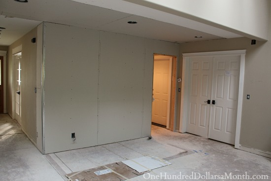 new family room DIY remodel
