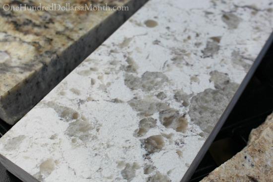 serra quartz white cabinets