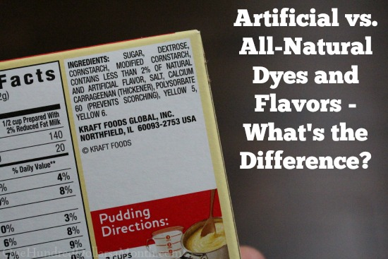 Artificial vs. All-Natural Dyes and Flavors What is the Difference