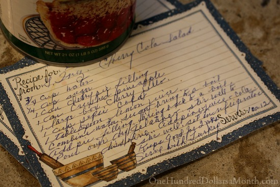 Cherry Cola Jello Salad Recipe