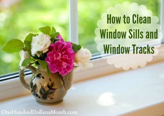 How to Clean Window Sills and Window Tracks