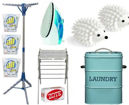 blue laundry tin