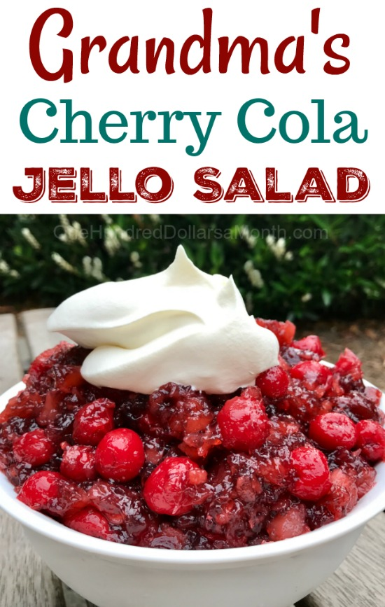 grandma's cherry cola jello salad recipe  one hundred