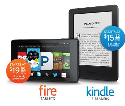 kindle fire 5 monthly payments