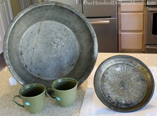old tin pie plate