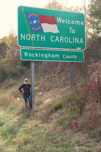 welcome to north Carolina sign