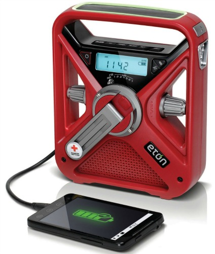 American Red Cross FRX3 Hand Crank NOAA AMFM Weather Alert Radio with Smartphone Charger