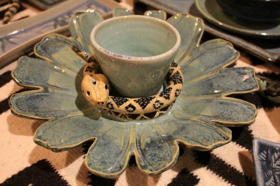 blue snake pottery