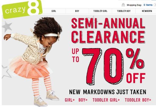 crazy8 sale