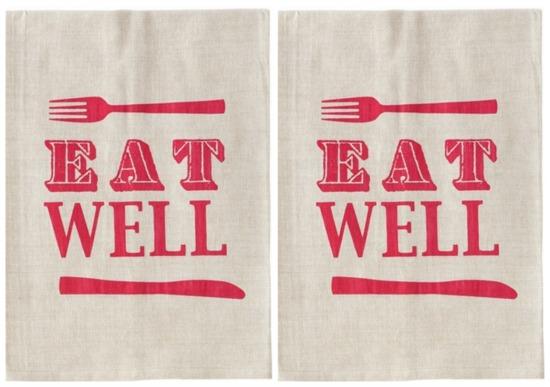 eat well tea towel