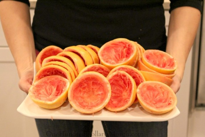 grapefruit halves