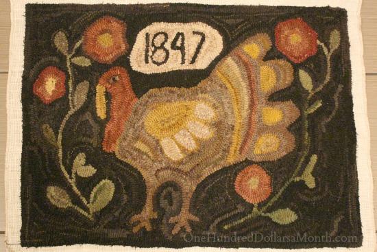anne nichols primitive turket hooked rug