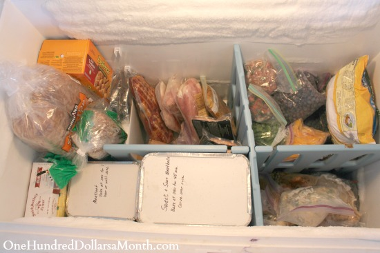 chest freezer meals