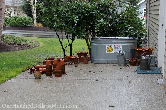 galvanized bin